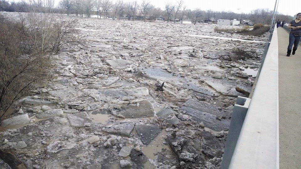 Worland Ice Jam Flooding DSS Page.