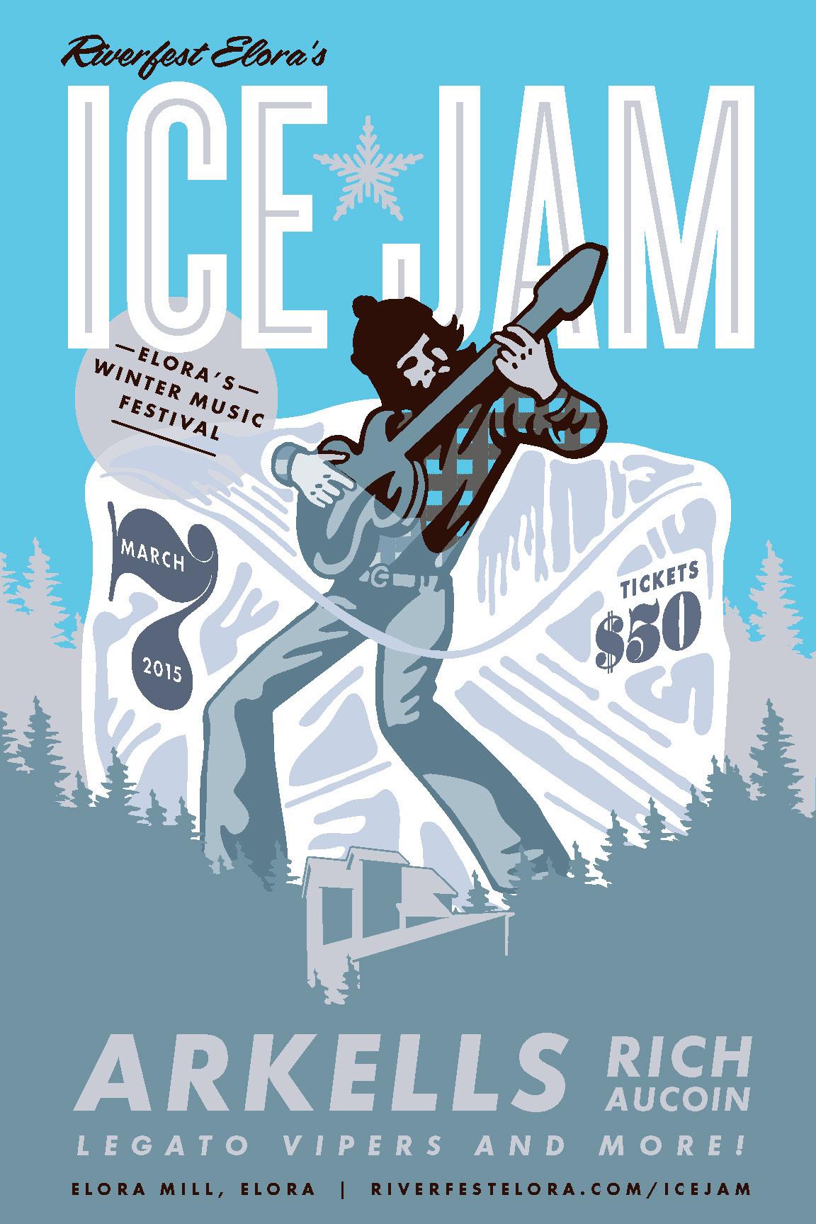 Riverfest Ice Jam on Behance.