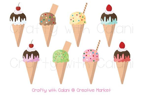 Ice Cream Cone Clipart ~ Illustrations on Creative Market.