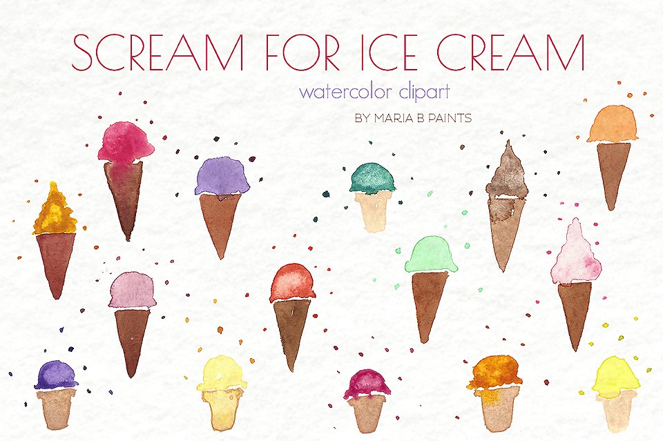 Ice cream clip art Photos, Graphics, Fonts, Themes, Templates.