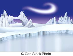 Arctic landscape Stock Illustration Images. 911 Arctic landscape.