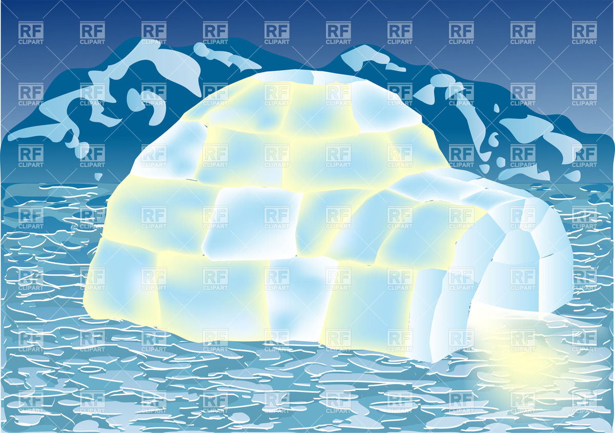 Igloo in winter landscape Vector Image #31939.