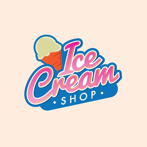 Modern Ice Cream Logo.