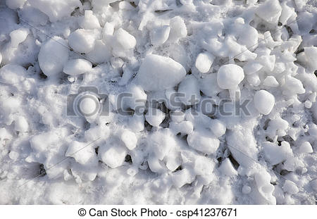 Picture of Lumps of snow and ice frazil on the surface of the.