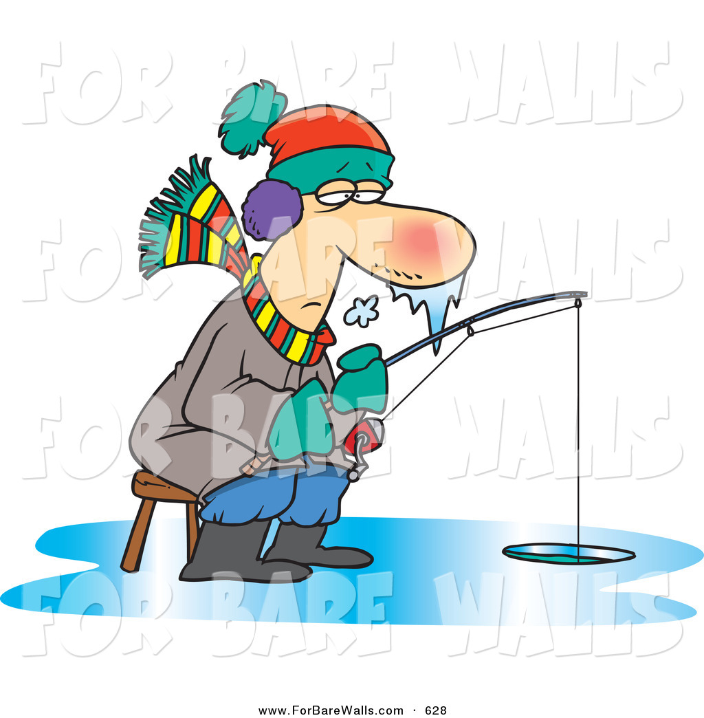 Ice Fishing Hole Clipart.