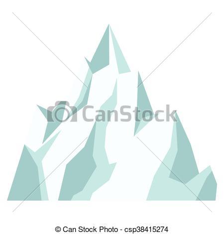 ice mountain icon.