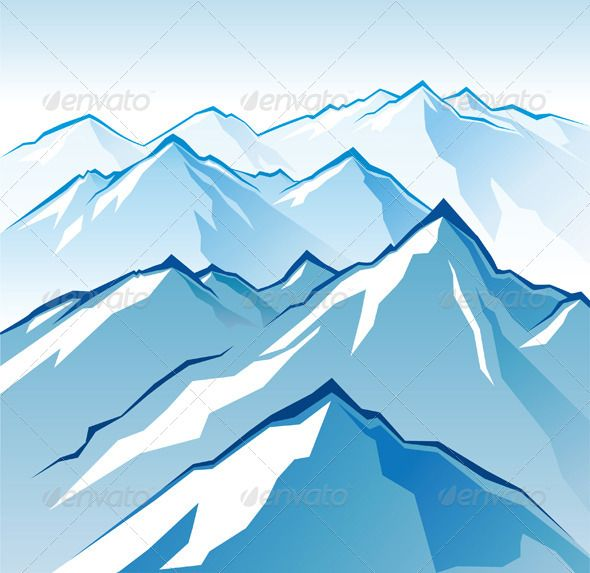 Icy mountains landscape. Eps 10 and Ai CS 3 included..