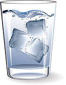 Clip Art of Glass water ice k14473216.