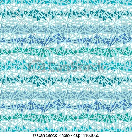 Clip Art Vector of Abstract ice crystals texture seamless pattern.