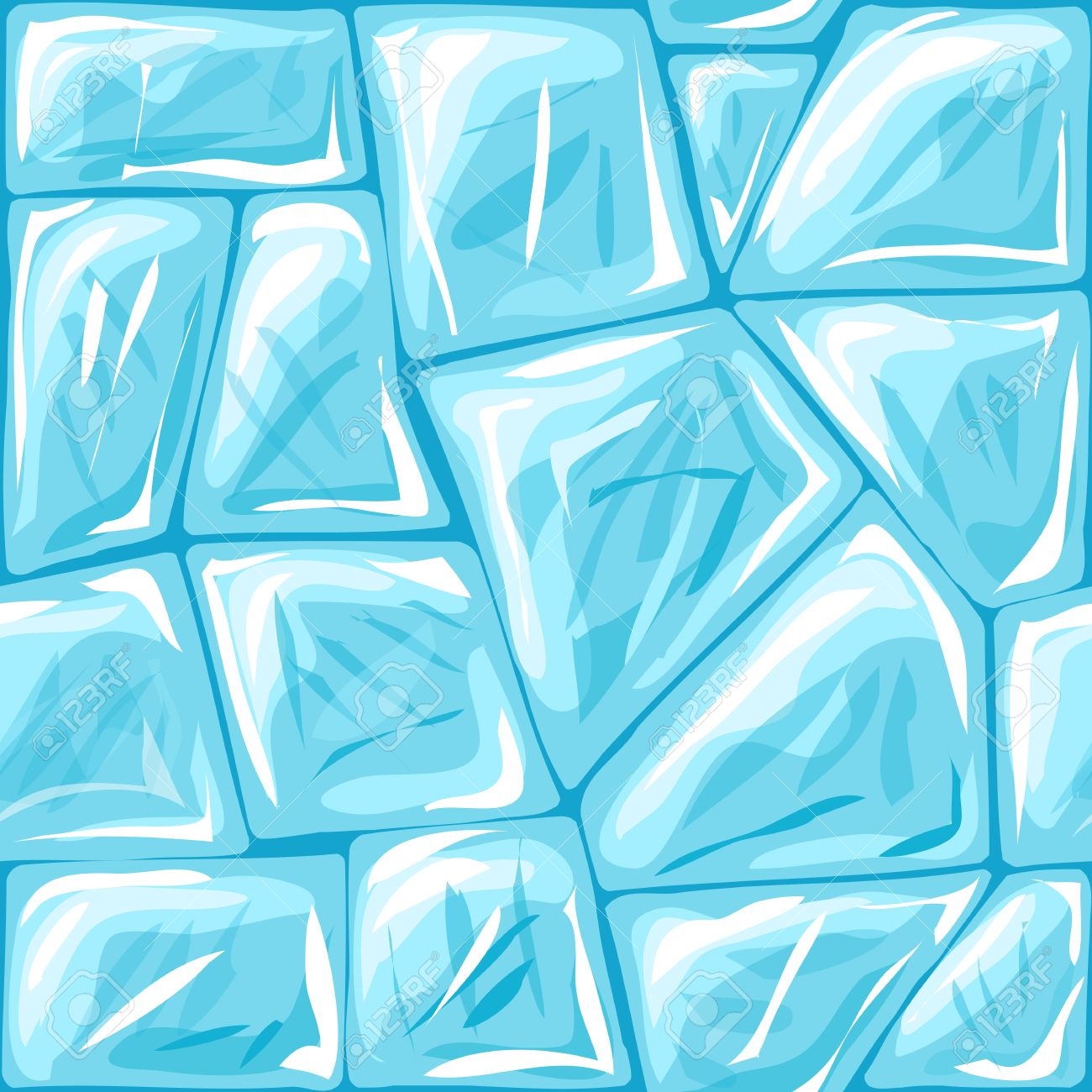 Vector Illustration Of Ice Brick Seamless Pattern Royalty Free.