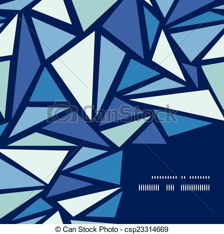 Clip Art Vector of Vector abstract ice chrystals frame corner.