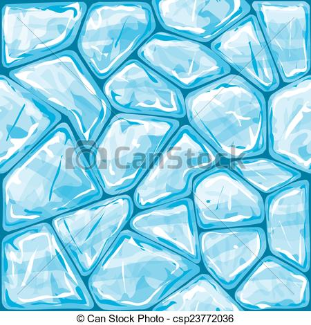 Vectors of Blue ice seamless pattern.