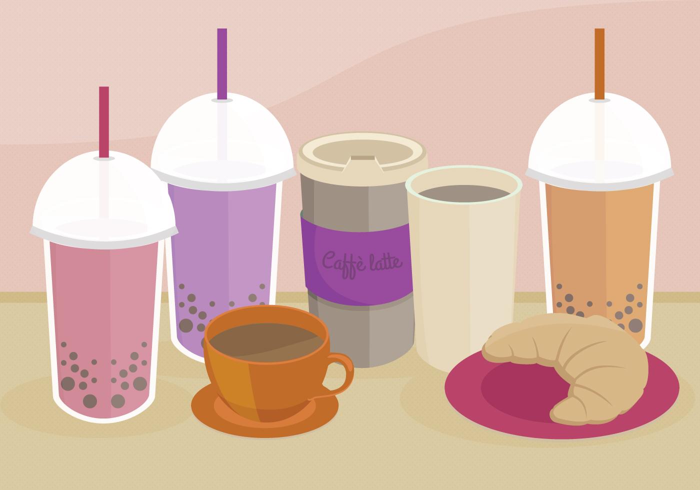 Bubble Tea Free Vector Art.