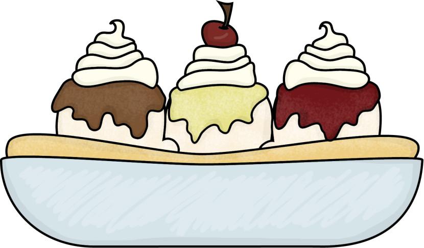 Ice Cream Bowl Clipart.