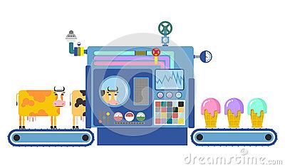 Ice Cream Cone As Confectioner Stock Illustrations.