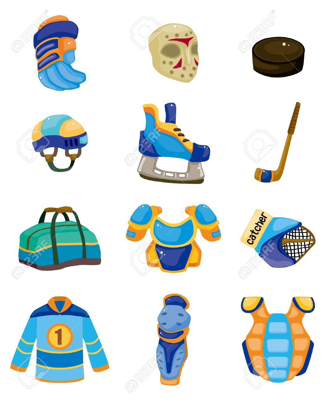 996 Hockey Protection Stock Illustrations, Cliparts And Royalty.