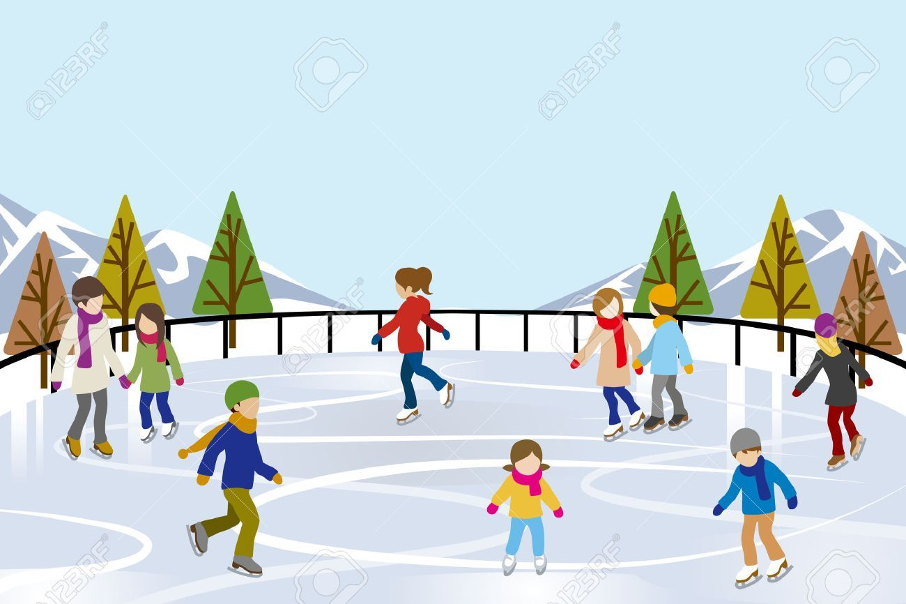 Clipart ice skating rink 6 » Clipart Portal.