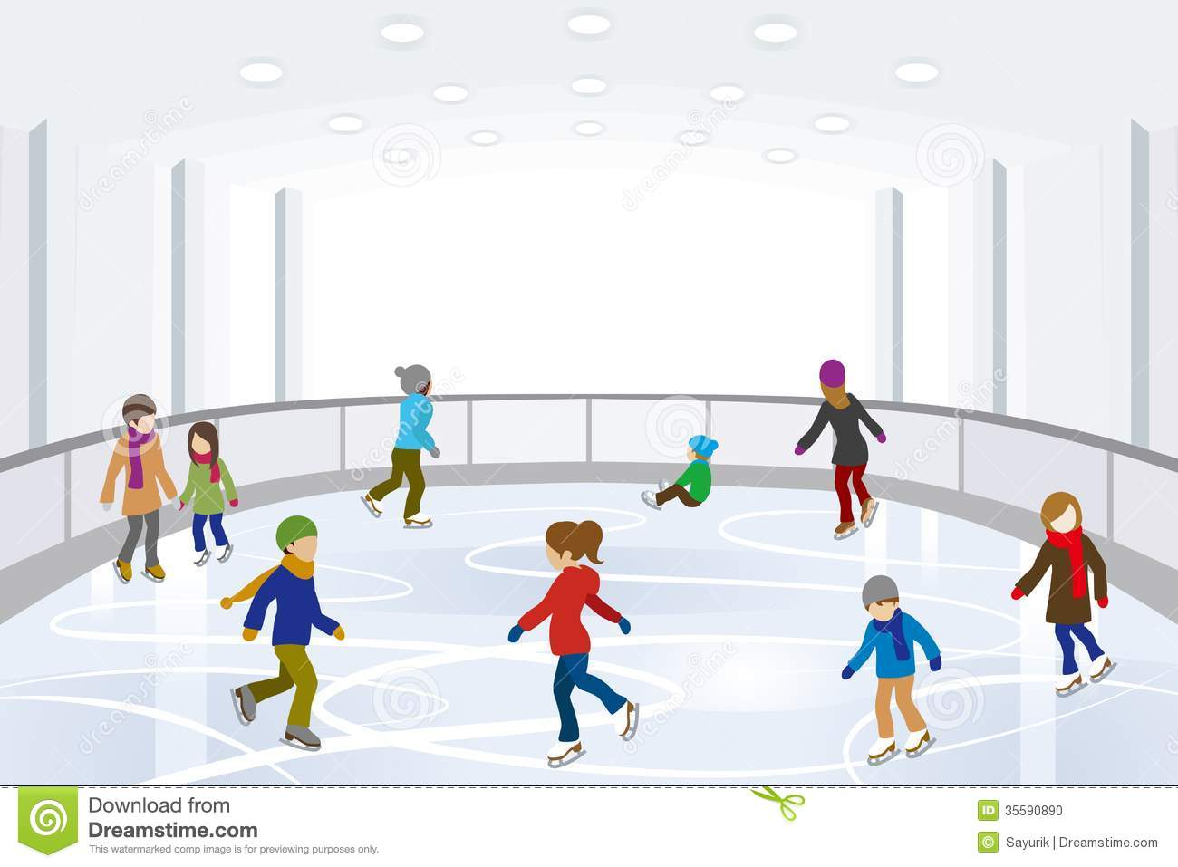Ice rink clipart #20