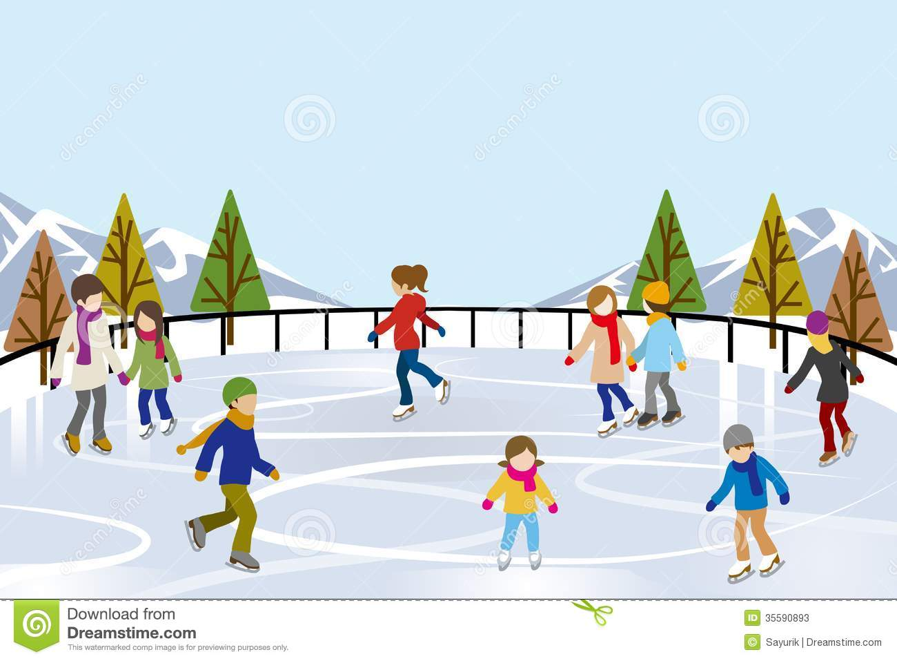 Rink clipart #10