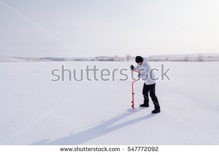 Ice Fishing Stock Images, Royalty.