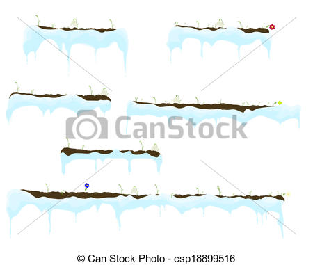 Vector Clip Art of Vector of Ice.