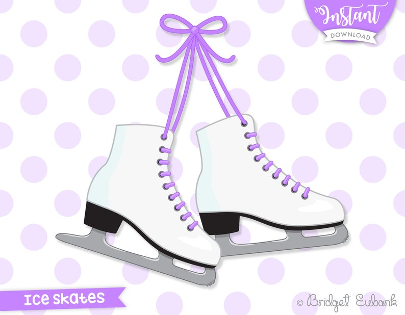 Ice skates clipart, ice skating clipart, ice skating party, ice skating  birthday, ice skates clip art, Commercial Use, INSTANT DOWNLOAD.