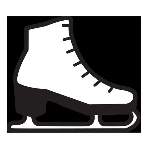 Figure skate,Ice hockey equipment,Footwear,Ice skate,Clip art,Shoe.