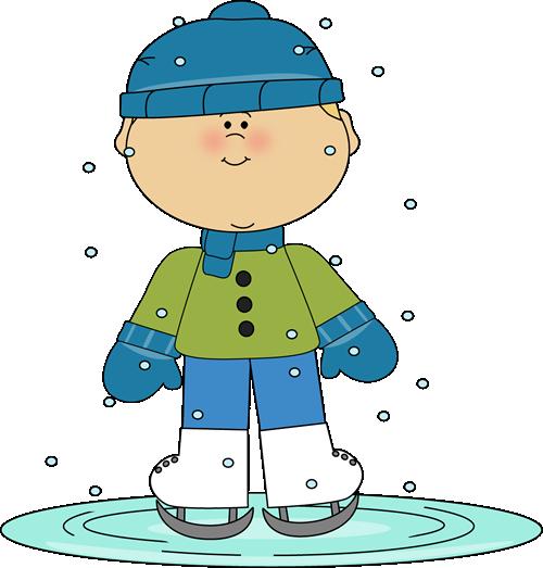 Boy ice skating..