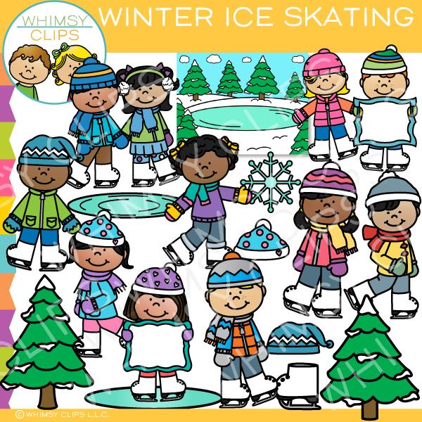 Winter Ice Skating Clip Art.