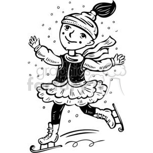 840 Ice Skating free clipart.