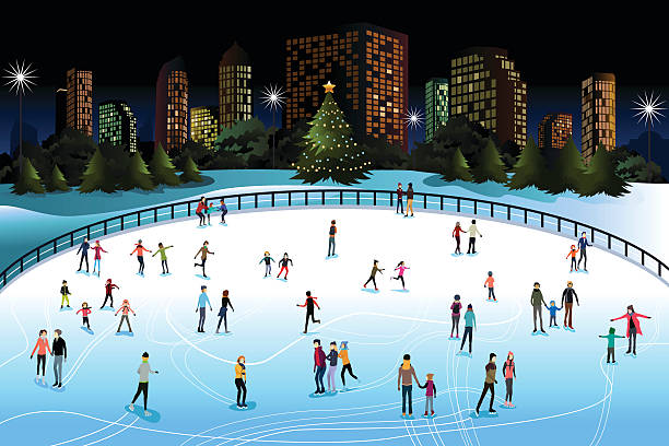 Ice Skating Clip Art, Vector Images & Illustrations.