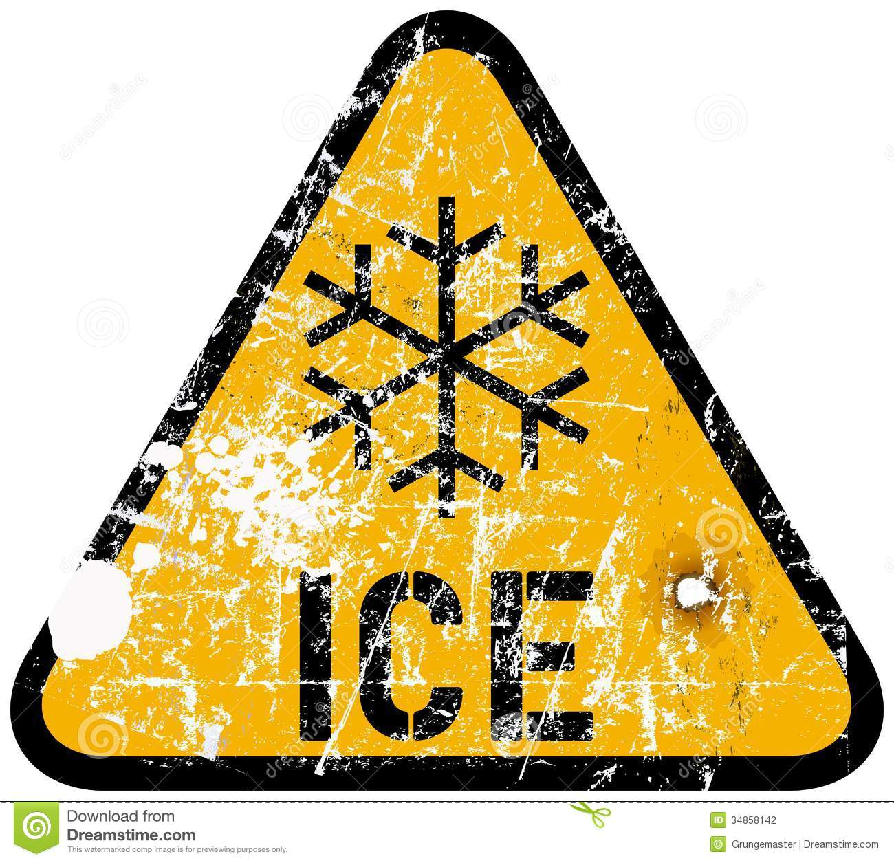 Ice Warning Stock Photography.