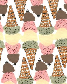 Ice Cream Wrapping Paper.