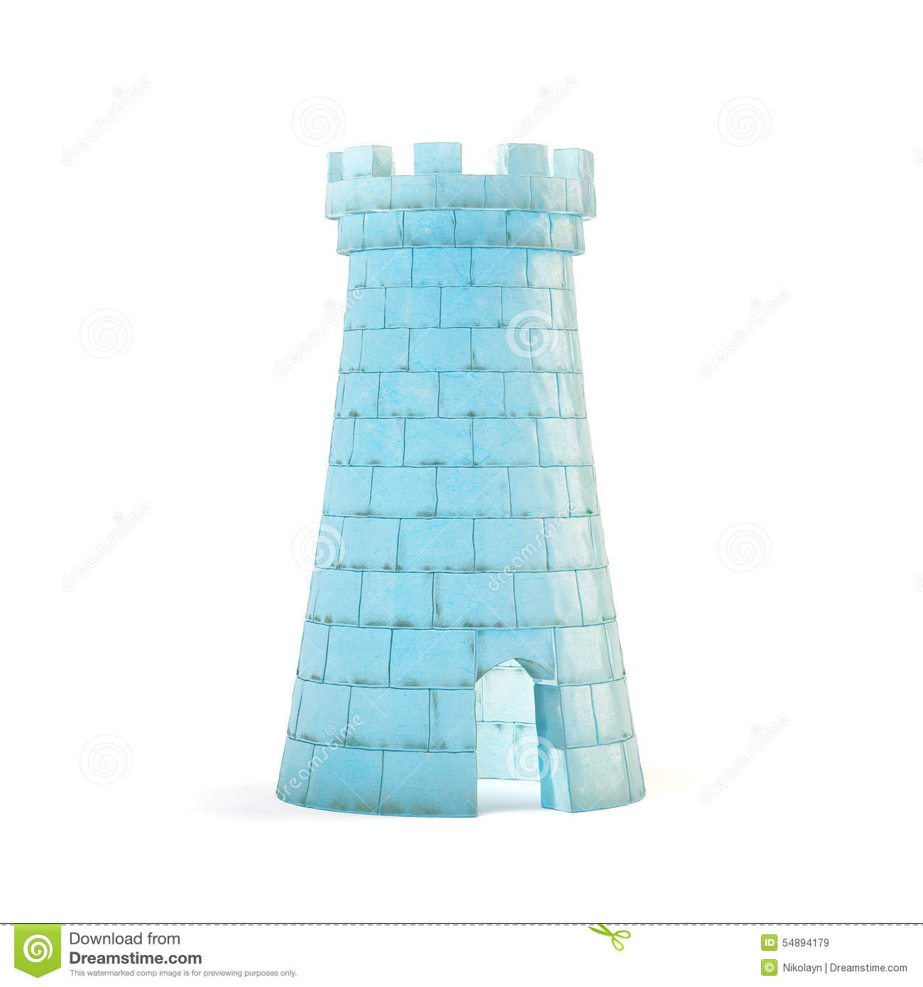 Ice Castle Stock Illustration.