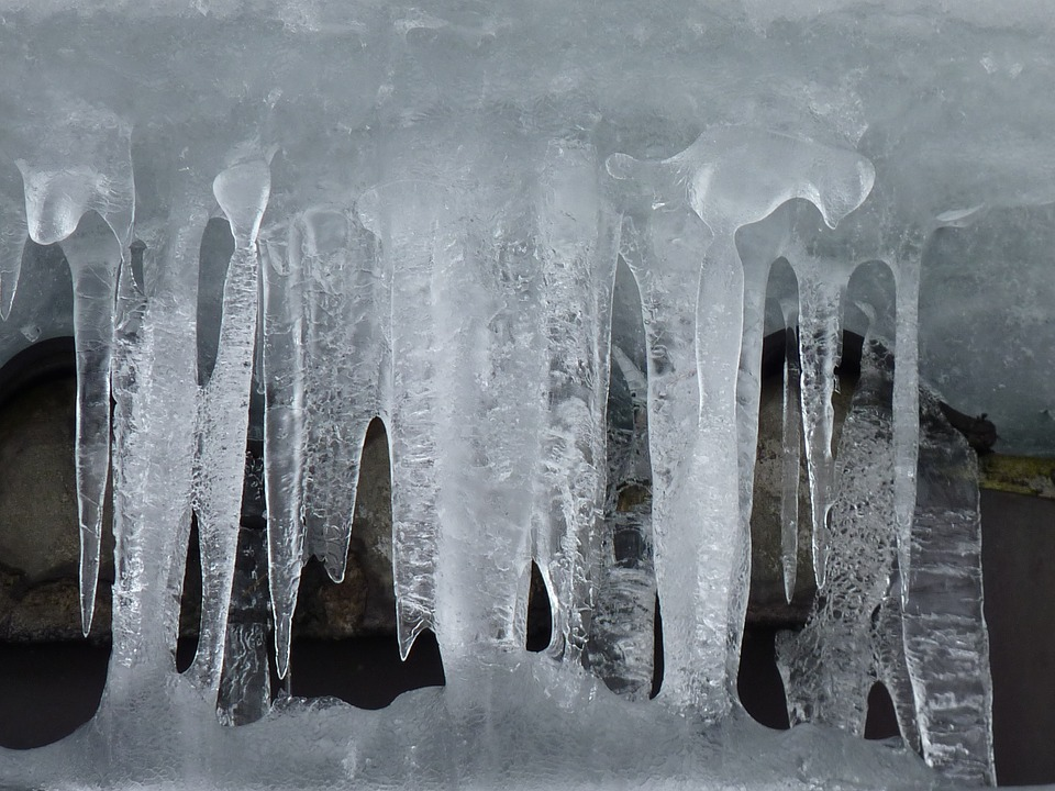 Free photo: Ice, Icicle, Winter, Cold, Frozen.