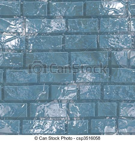 Stock Illustration of ice wall seamless texture.