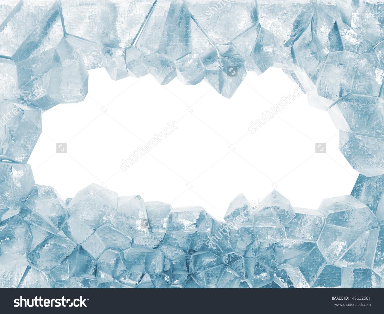 Broken Ice Wall Isolated On White Stock Illustration 148632581.
