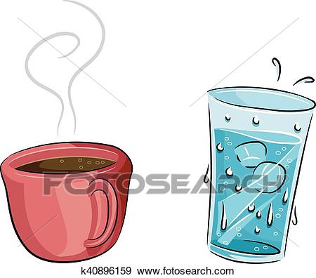 Hot Coffee Cold Water Clip Art.