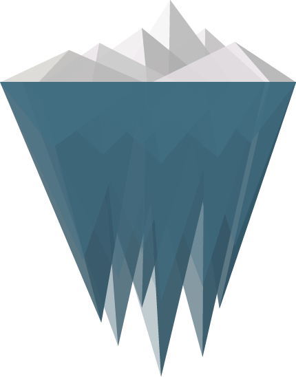 Iceberg Design Clipart transparent PNG.