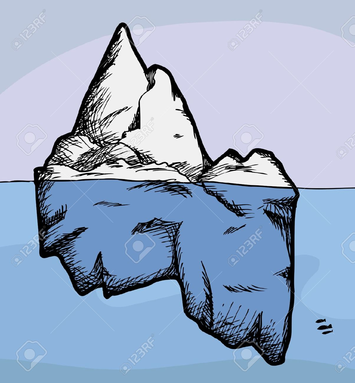 free iceberg coloring pages - photo#8