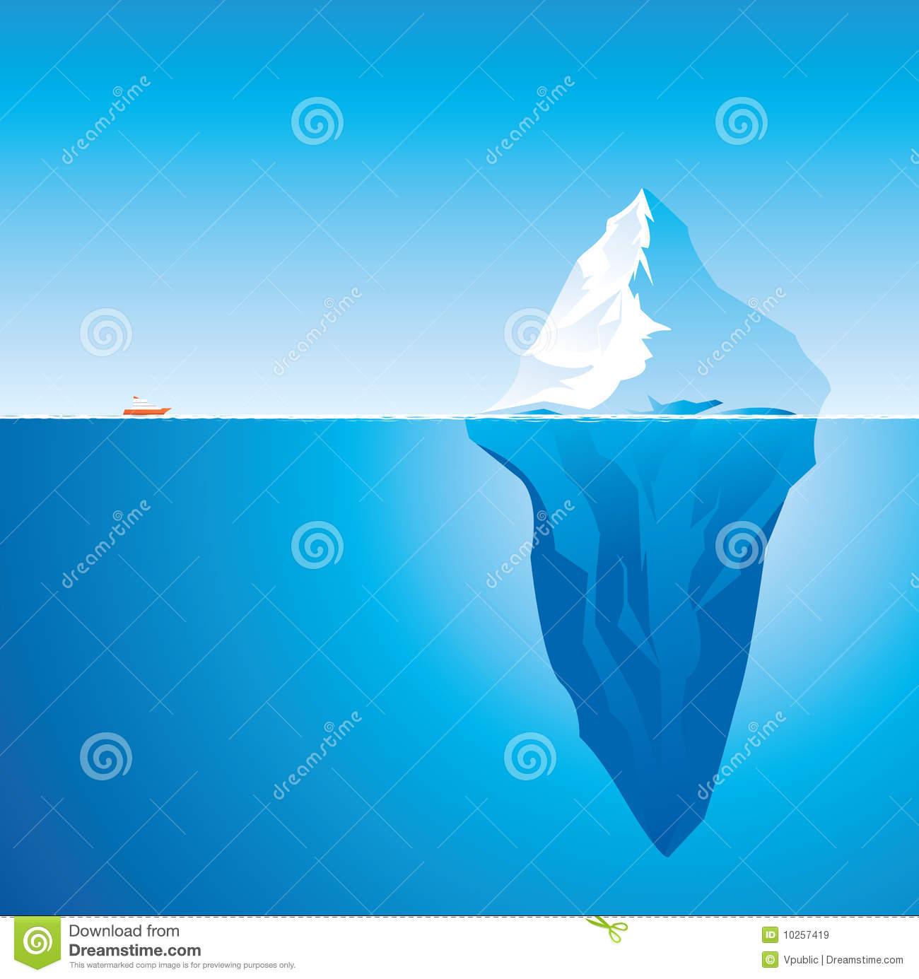 Iceberg Stock Illustrations.