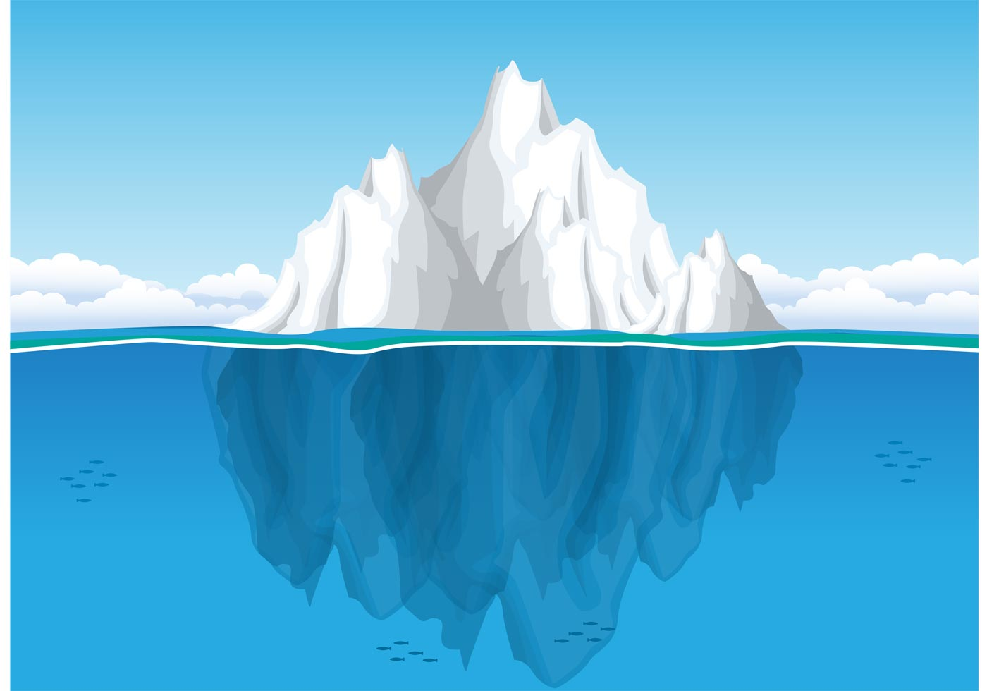 Iceberg Free Vector Art.