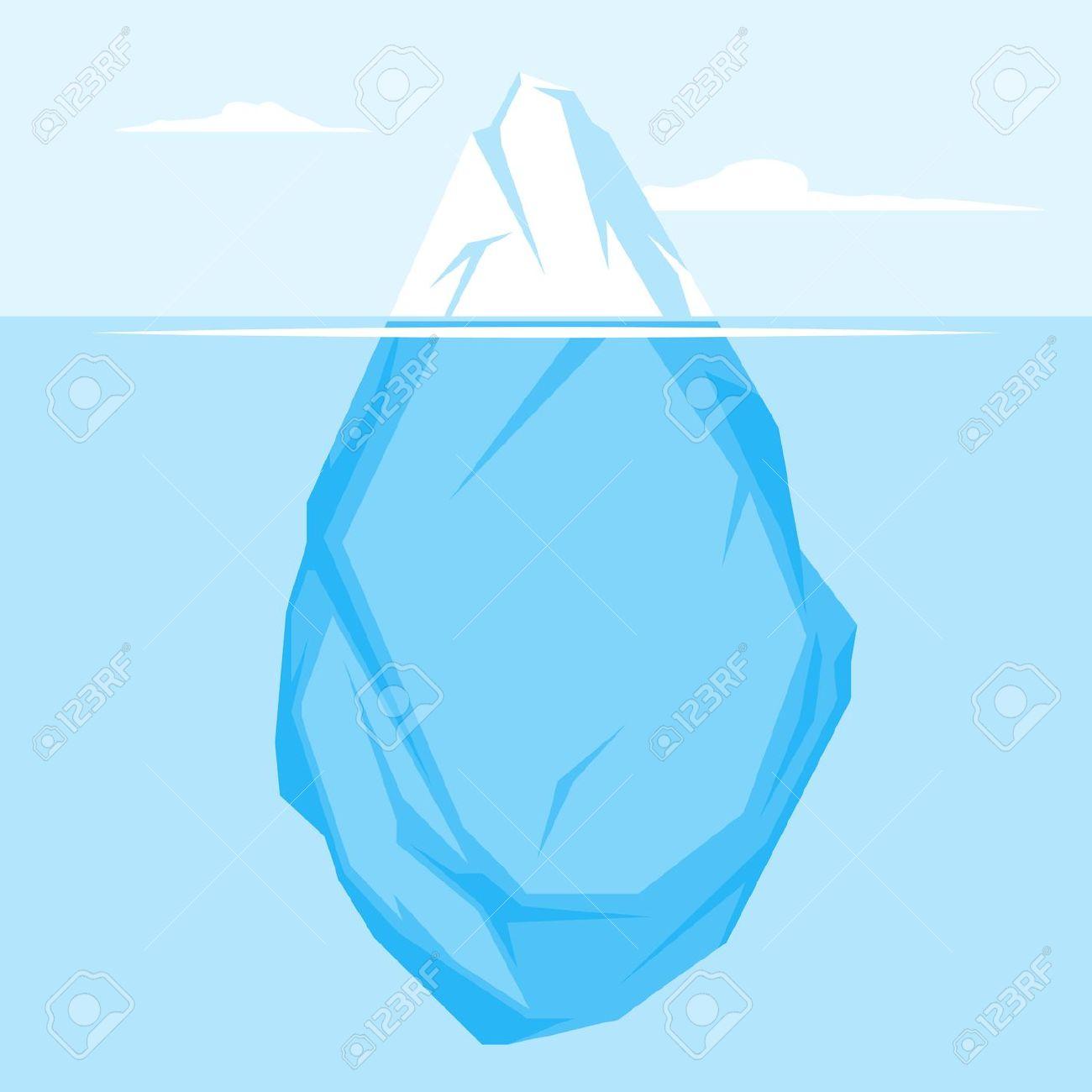 Flat iceberg clipart.
