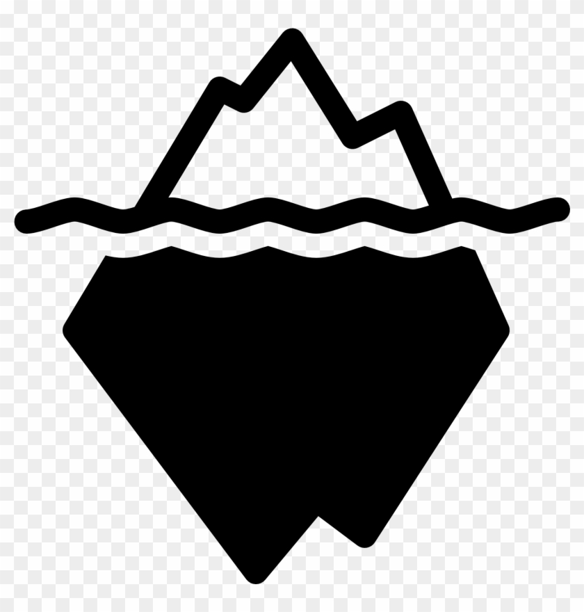 Iceberg Clipart Black And White, HD Png Download (#3498572.