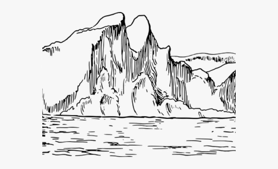 Iceberg Clipart Sketch.