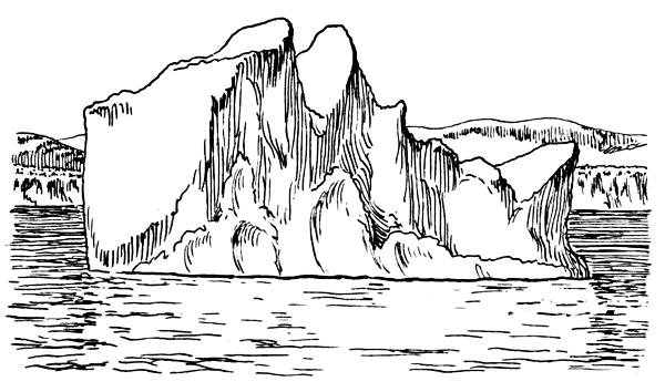 Iceberg Clipart Black And White.