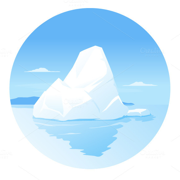 Clipart iceberg.