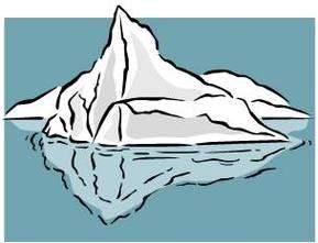 Iceberg Clip Art.