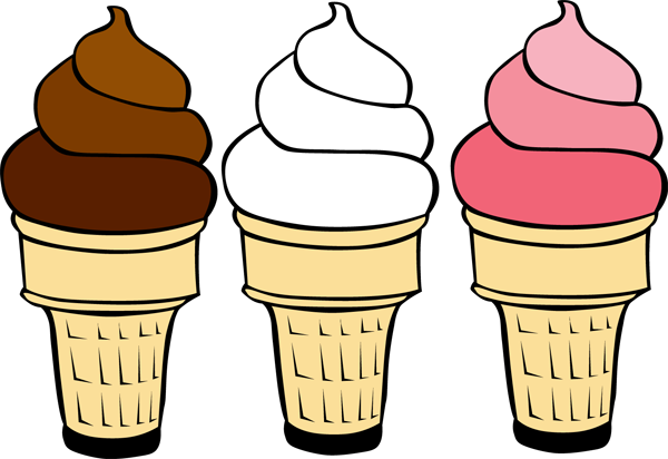 Empty ice cream cone clipart.