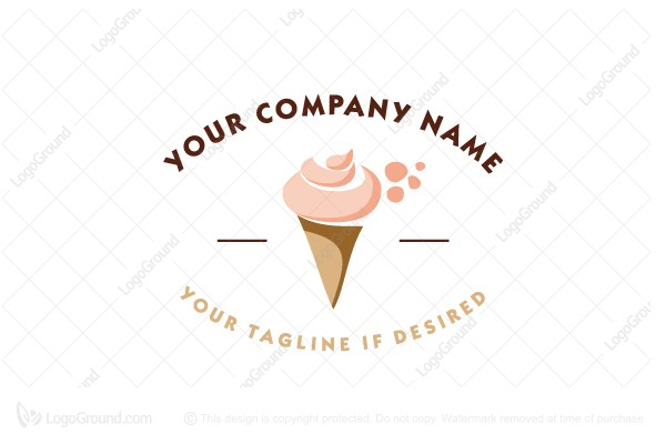 Exclusive Logo 55983, Ice Cream Logo.